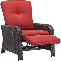 Hanover Strathmere Outdoor Luxury Recliner, Rich Brown/Crimson Red - $497.11