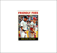 """2013 Topps Heritage Trout & Jeter""""FRIENDLY FOES"""", Rare, Card #41, Grade ... - $49.99"""