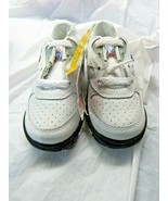 MLB Rookie League Kids White Leather Sneakers 8.5M by Buster Brown Style... - $34.00