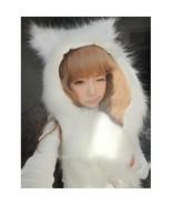 Kawaii Clothing Hat Beanie Ropa Gorro Cat Ears Fur Wolf Leopard Panda Dog Cute - $21.77