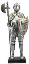 "13.5"" Armored Medieval Knight w/ Polleaxe Statu... - $49.50"