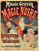 Magie Noir Rare 1887, 13 x 10 inch Musee Grevin Advertising Giclee Canva... - $19.95