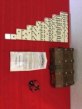 Dominoes By Cardinal Vintage Bakelite 28 Pcs. Set in Wooden Case - $30.00