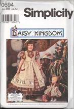 Uncut Size 5 - 8 Daisy Kingdom Dress Pinafore Doll Dress Simplicity 0694 Pattern - $6.99