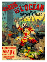 LES ROIS de L'OCEAN Rare 1891, 13 x 10 inch Musee Grevin Adv Giclee Canv... - $19.95
