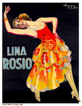 LINA ROSIO: Rare 1892, 13 x 10 inch Advertising Giclee Canvas Print - $19.95