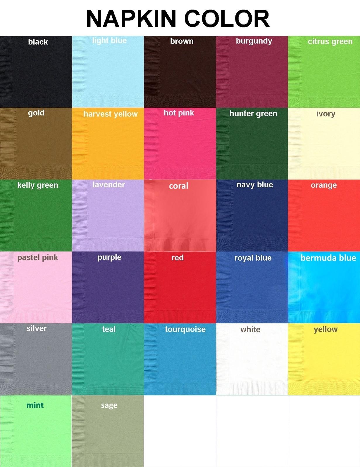 50 Plain Solid Colors Beverage Cocktail Napkins Paper - Ivory