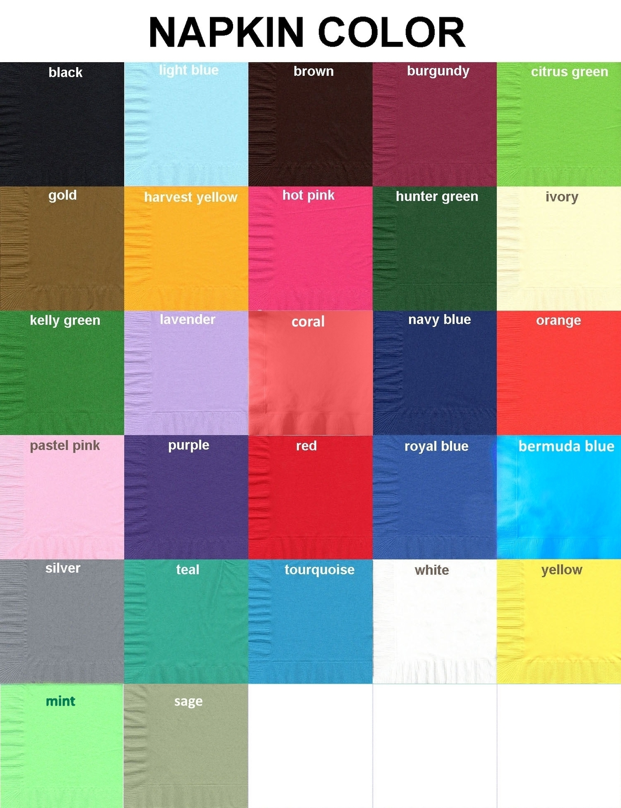 50 Plain Solid Colors Beverage Cocktail Napkins Paper - Navy Blue