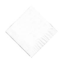50 Plain Solid Colors Beverage Cocktail Napkins Paper - White - $2.76