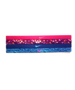 NEW Nike Girl`s Assorted All Sports Headbands 4 Pack Multi-Color #21 - $20.00
