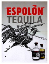 ESPOLON TEQUILA, Rare 1890 13 x 10 inch Adverti... - $19.95