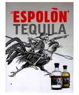 ESPOLON TEQUILA, Rare 1890 13 x 10 inch Advertising Giclee Canvas Print - $19.95