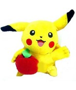Pokemon Plush Pikachu Holds an Apple 6 in Licensed by Hasbro - $14.98