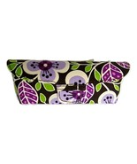 NEW VERA BRADLEY PLUM PETALS FLAP SNAP EYEGLASSES CASE - $25.00