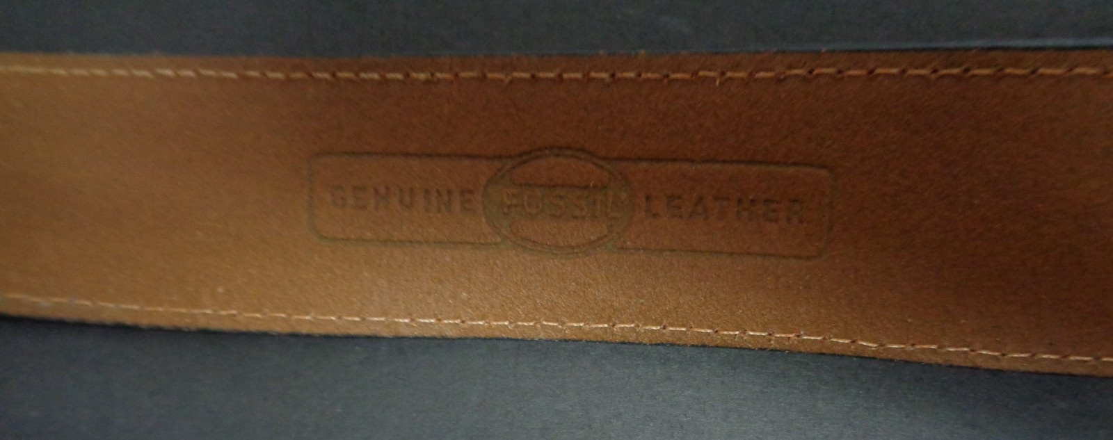 """Womens Leather FOSSIL Belt Colorful Graphics Beach Theme Waist 34""""- 38"""""""