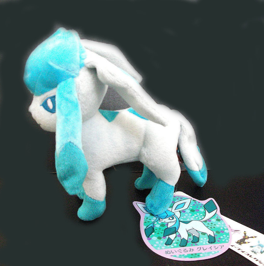 Pokemon Plush 6 Inch Glaceon Doll Stuffed Animals Anime Collection Toy
