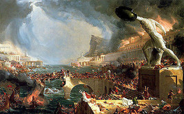 Destruction:  Course of Empire by Thomas Cole - Cards and Small Prints - $8.15+