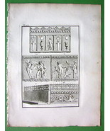1814 Antique Print - Roman Antiquities Friezes ... - $9.41
