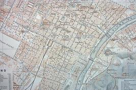 1910 MAP ORIGINAL Baedeker - Italy Torino Turin - $13.86