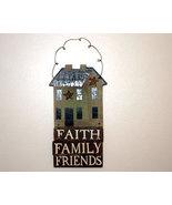 Primitive Country Faith Family Friends Plaque Sign - $12.00