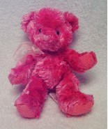 """RUSS 7"""" Shaggy Rose Strawberry Pink """"SHERRY"""" Bear, Lightly Scented, Great Condit - $9.99"""