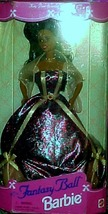 BARBIE DOLL - FANTASY BALL Dark Skin RARE Long Hair LATINO Purple Dress ... - $54.95