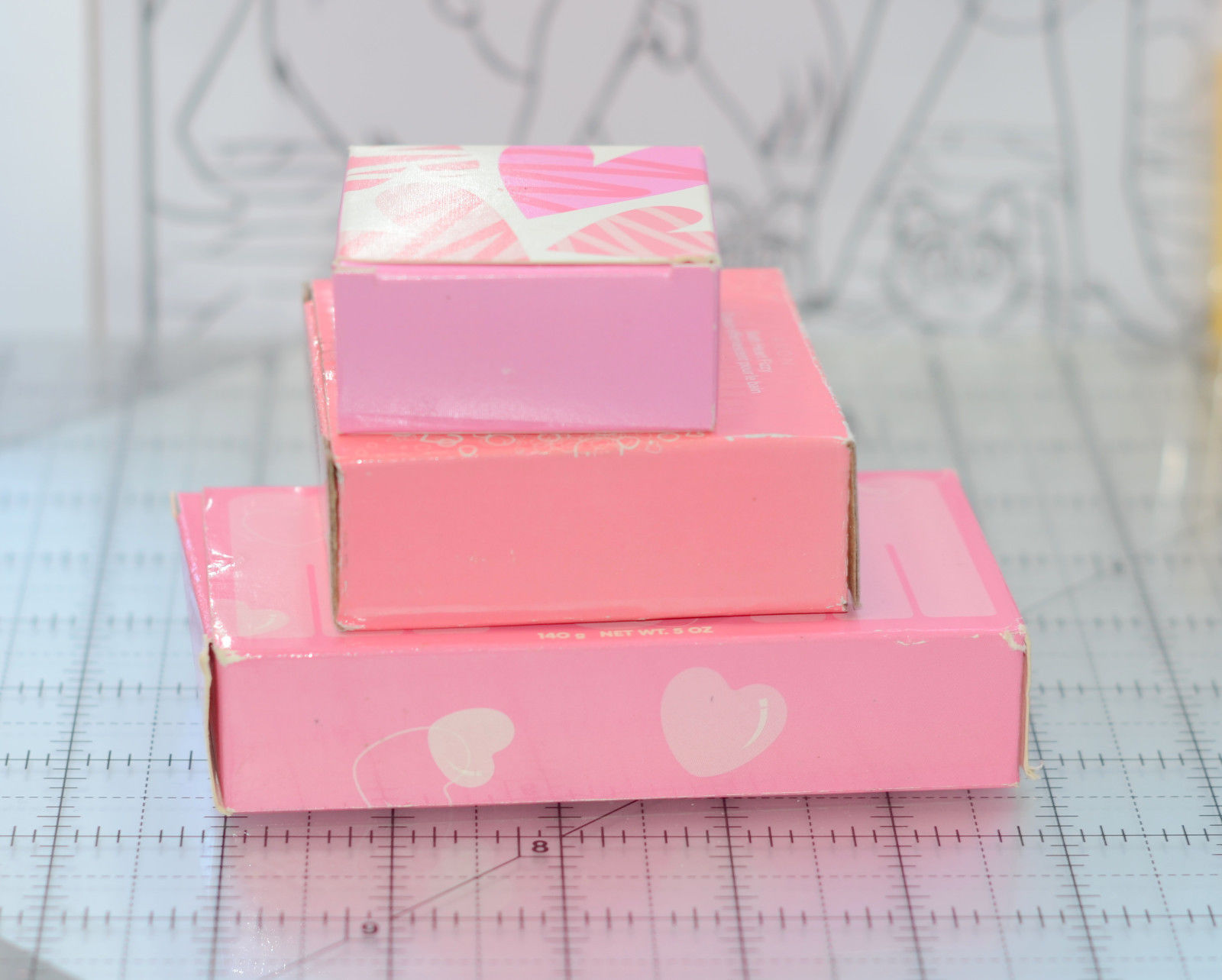Specialty pink heart fizzy bar Soap mother's Day Gift Set Mom bubble bath