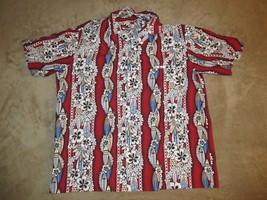 Royal Creations Button Up Hawaiian Shirt Made In Hawaii Sz XL Beachwear ... - $14.99
