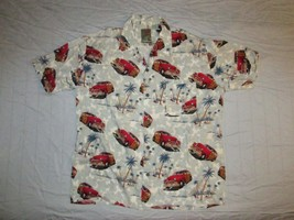 Pineapple Connection Button Up Hawaiian Shirt Sz M Vacation Beach Automobile Car - $17.99