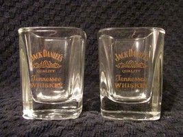 Jack Daniels Old No 7 Tennessee Whiskey 2pc Square Shot Glass Set Bar Al... - €13,73 EUR