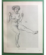 NUDE Lover's Sea-Saw by Otto Greiner - 1912 Lic... - $18.32