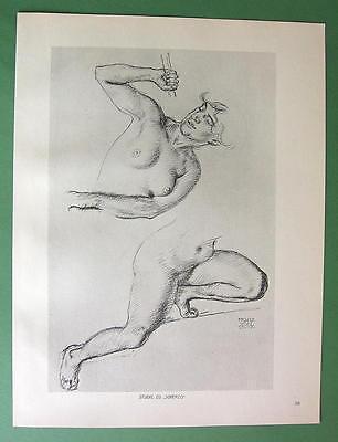 NUDE Scherzo by Otto Greiner - 1912 Lichtdruck Print