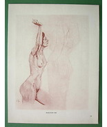 NUDE Woman's Study  by Otto Greiner - 1912 Lich... - $18.32