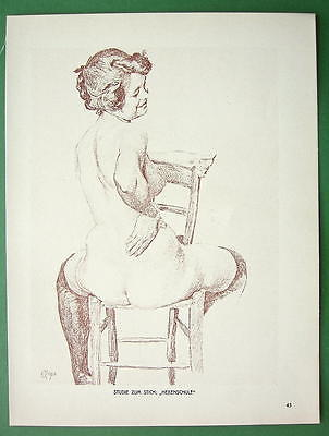 NUDE Study for School of Witches by Otto Greiner - 1912 Lichtdruck Print #45