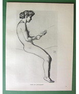 NUDE Woman Riding Centaur by Otto Greiner - 191... - $18.32