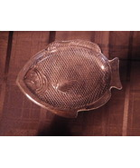 Fish Shaped Clear Glass Plates Fins Scales Oven... - $9.99