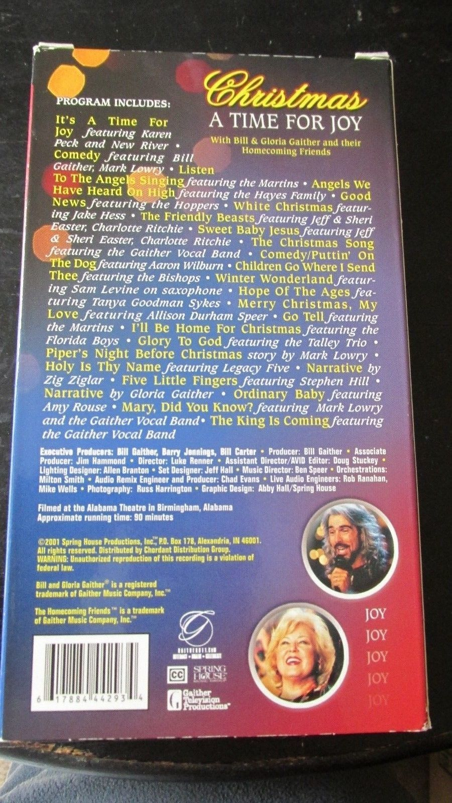 Gaither Gospel Series...Christmas, A Time For Joy Gospel VHS