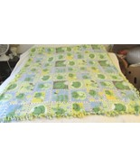Handcrafted Fleece Frog Blanket - $24.99