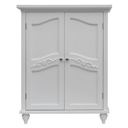 bathroom linen storage floor cabinet 2 doors in