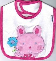 Gerber 3 pack Velcro Closured Bunny Pink Bibs  - $14.99