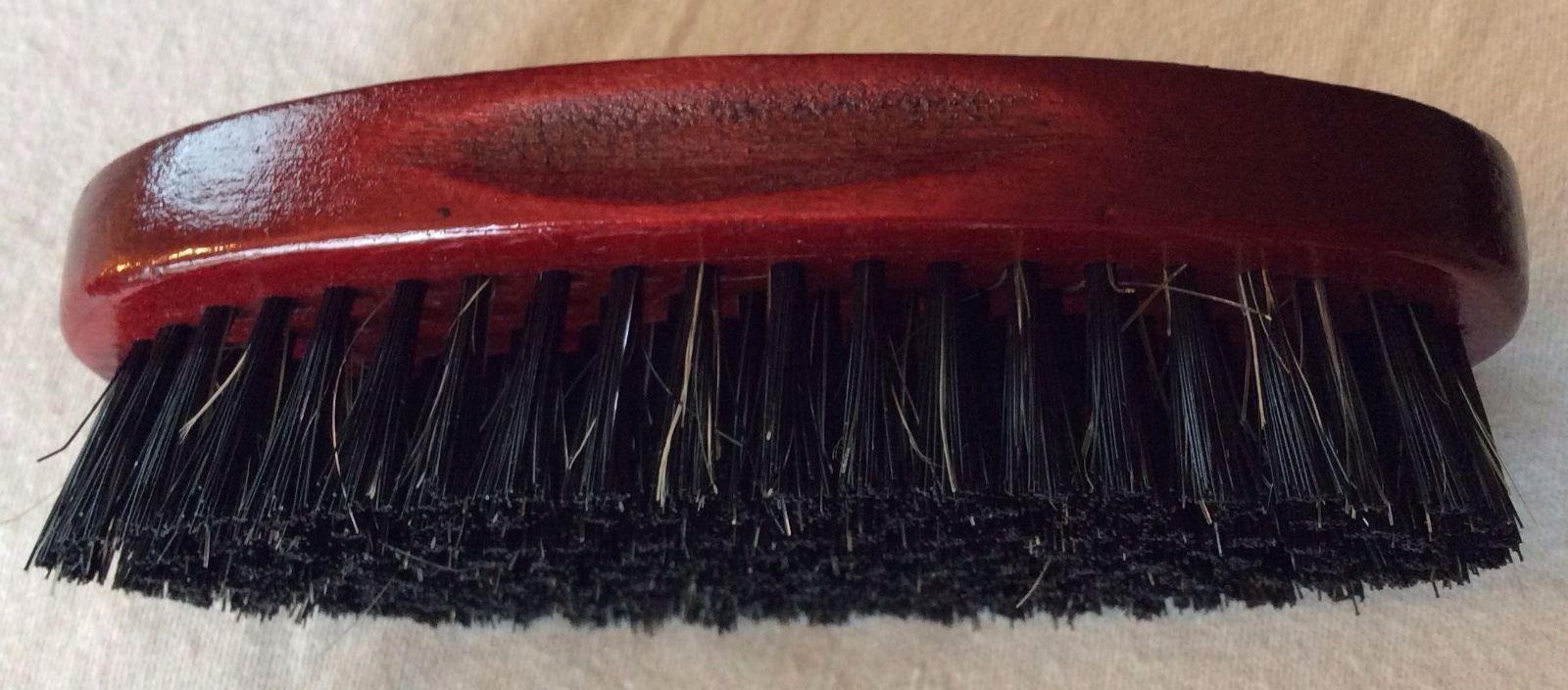 Military Very  Strong Natural Bristles set in sustainable wood Hair Brush