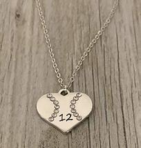 Personalized Engraved Softball Necklace with Number, Custom Softball Gif... - $15.99