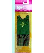 Barbie - KEN Fashion Favorites Outfit - Green Tank Top & Shorts (2001) - $10.00