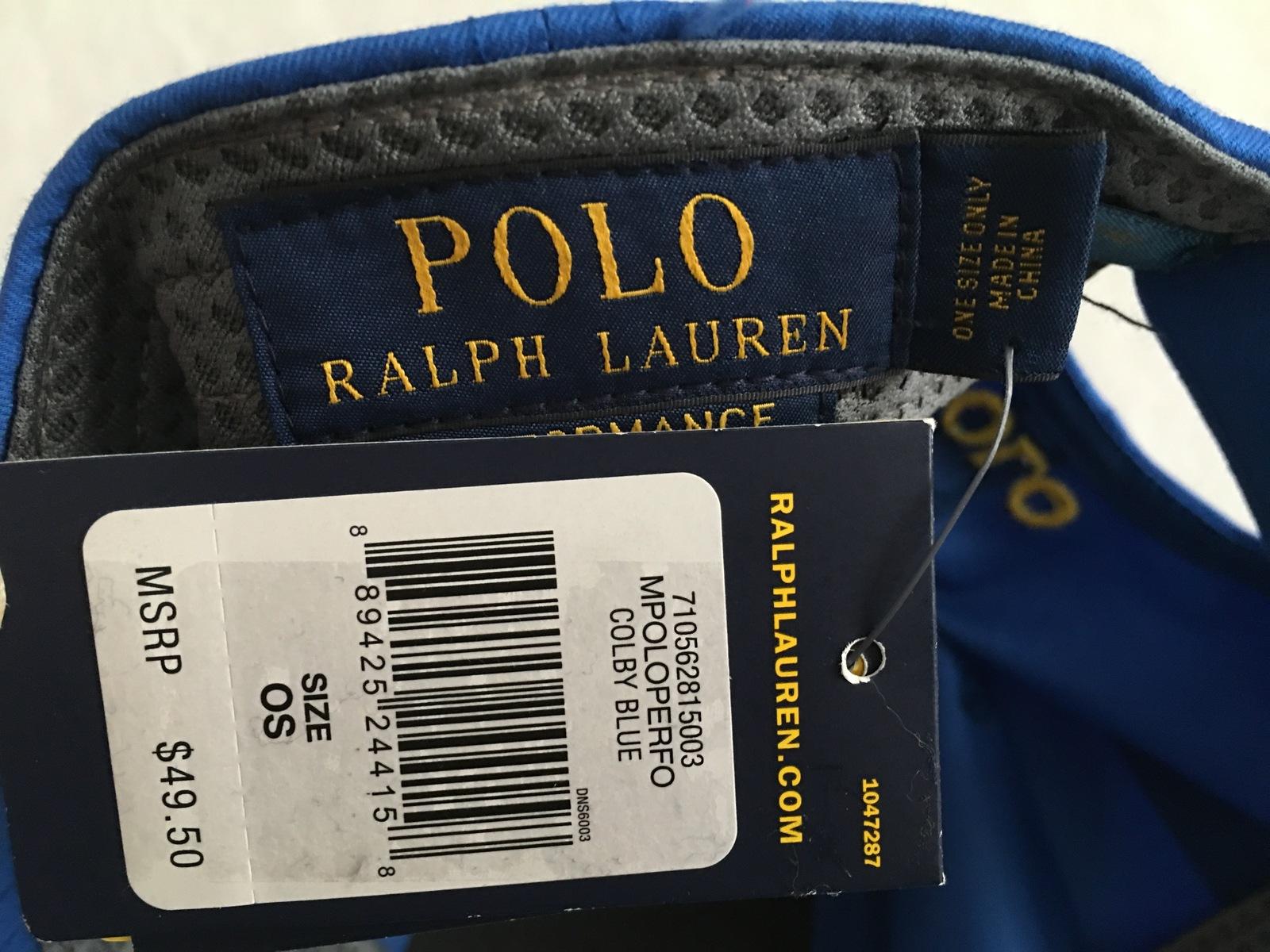 4a4bee289a0d9f NWT Polo Ralph Lauren Men's Performance Baseline Baseball Cap One Size Fits  All