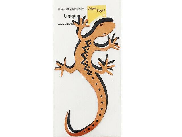 Unique Pages Diecut Paper Gecko, Metallic Copper and Black #333B