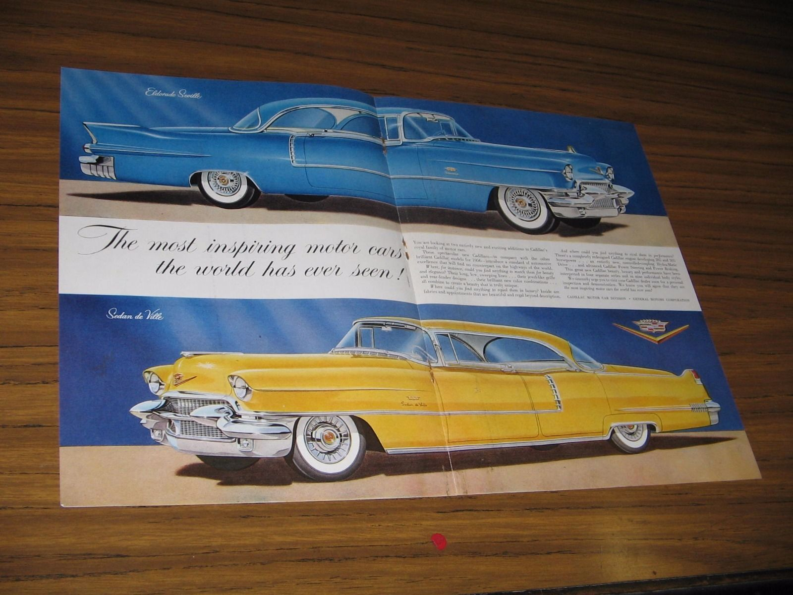 1955 print ad the 1956 cadillac 2 door eldorado sedan de for 1956 cadillac 4 door sedan