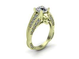 Skull Engagement Ring in 14 k Green Gold  - $1,295.00