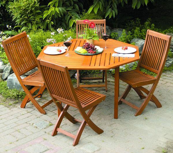 Teak Wood Patio Outdoor Garden Octagonal Dining Table