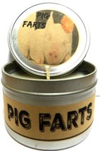 Pig Farts (Smells Like Bacon Bits) 4 oz All Natural Handmade Soy Candle Tin - $7.45