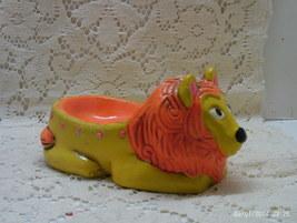 Vintage Mid Century Flower Power Lion Soap Dish // Ring/Trinket Dish - $12.50